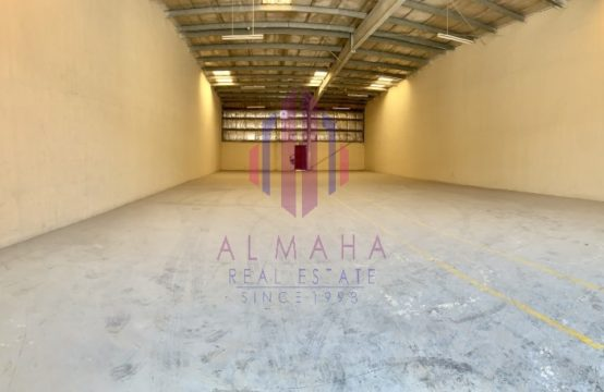 3600sq.ft Spacious Insulated WH Monthly Rent